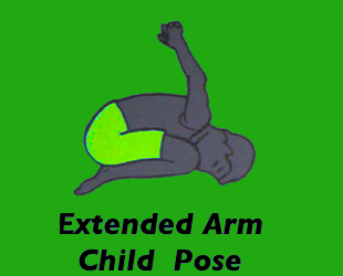 Yoga Extended Arm Child Pose