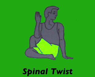 Yoga Spinal Twist Pose Left