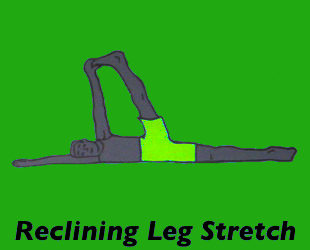 Yoga Reclining Leg Stretch Left