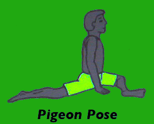 Yoga Pigeon Pose Left