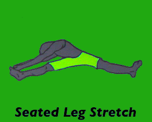 Yoga Seated Leg Stretch Pose
