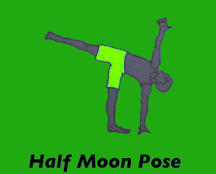 Yoga Halfmoon Pose Left
