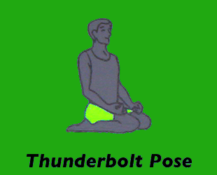Yoga Thunderbolt Pose